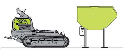 Geräteaufnahme Raupentransporter